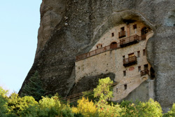 greece meteora unesco hermit caves