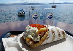greece traditional greek gyros