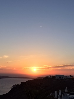 Greece Santorini sunset